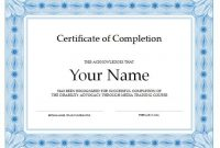 Certificate Of Completion Template Word 7