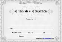 Certificate Of Completion Word Template 9