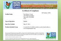 Certificate Of Compliance Template 11