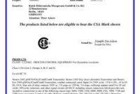 Certificate Of Compliance Template 4