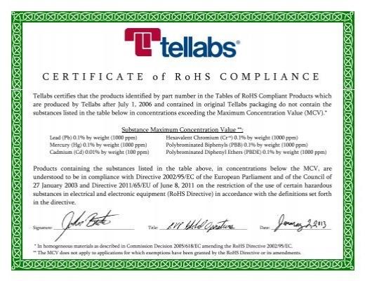 Certificate Of Compliance Template 7