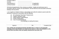 Certificate Of Conformance Template 4