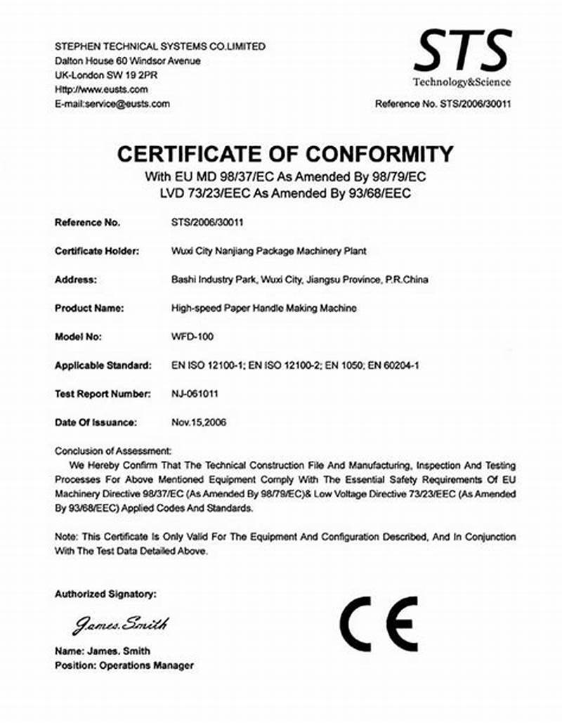 Certificate Of Conformity Template Free 2
