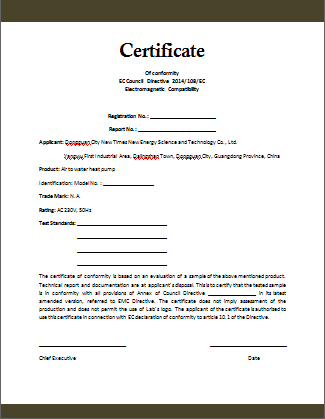 Certificate Of Conformity Template Free 3