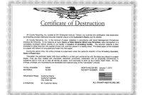 Certificate Of Destruction Template 8