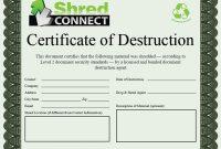Certificate Of Destruction Template 9