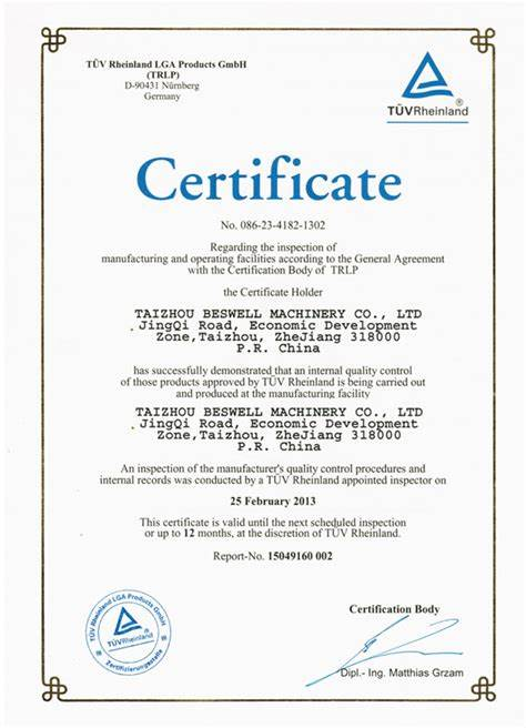 Certificate Of Inspection Template