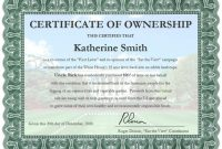 Certificate Of Ownership Template 3