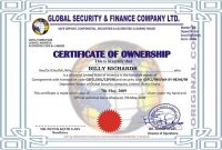 Certificate Of Ownership Template 6