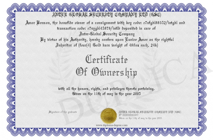 Certificate Of Ownership Template 7