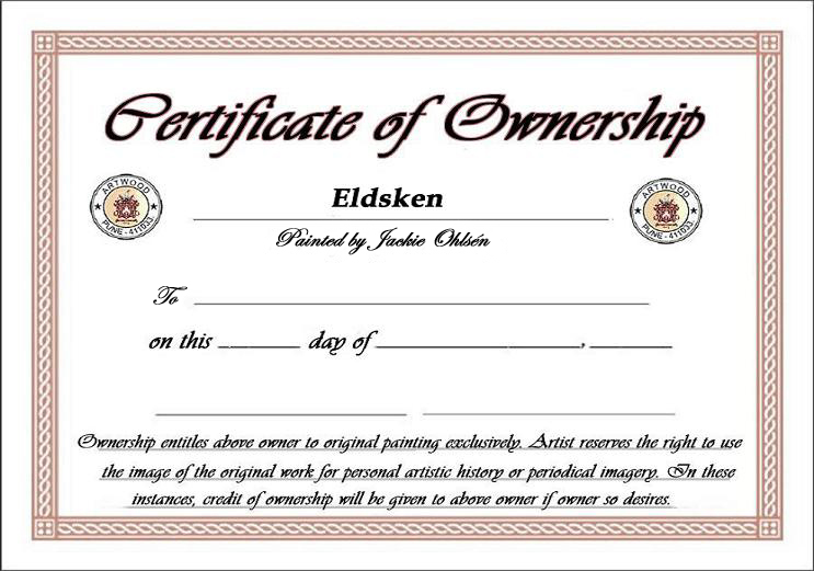 Certificate Of Ownership Template 8