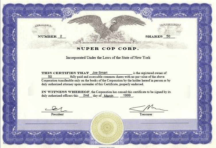 Certificate Of Ownership Template 9