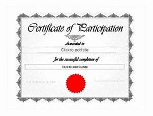 Certificate Of Participation Template Ppt 2