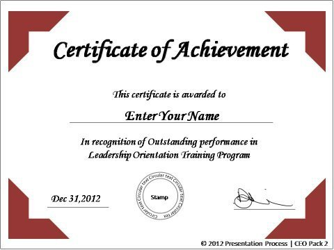 Certificate Of Participation Template Ppt 6