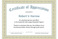 Certificate Of Recognition Word Template 0