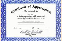 Certificate Of Recognition Word Template 2
