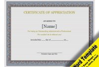 Certificate Of Recognition Word Template 5