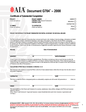 Certificate Of Substantial Completion Template 9