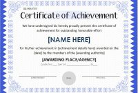 Certificate Of attainment Template 0