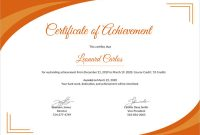 Certificate Of attainment Template 5