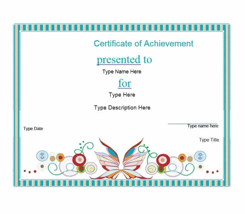 Certificate Of Attainment Template 7