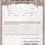 Certificate Of origin for A Vehicle Template