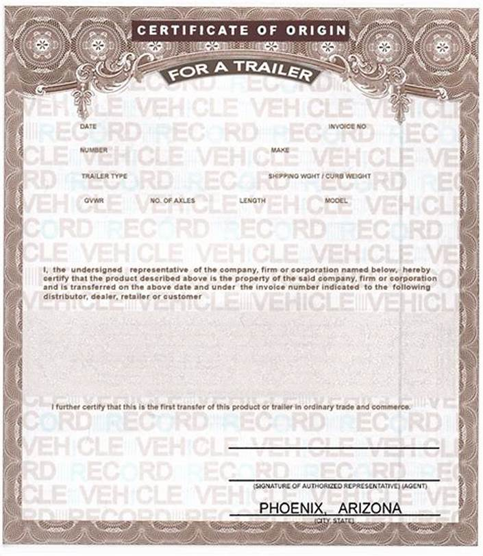 Certificate Of Origin For A Vehicle Template4