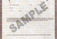 Certificate Of origin for A Vehicle Template6