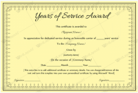 Certificate for Years Of Service Template 11