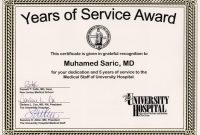 Certificate for Years Of Service Template 4