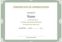 Certificate for Years Of Service Template2