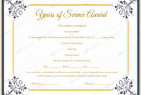 Certificate for Years Of Service Template3
