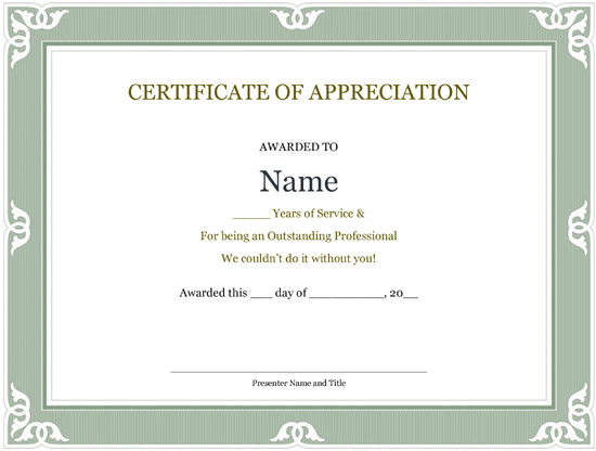 Certificate For Years Of Service Template5