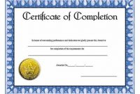 Certification Of Completion Template 11