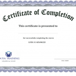 Certification Of Completion Template