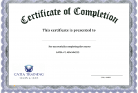 Certification Of Completion Template 3