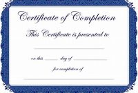 Certification Of Completion Template 6