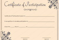 Certification Of Participation Free Template 4