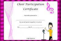 Choir Certificate Template 10