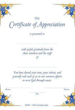 Choir Certificate Template 11