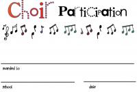 Choir Certificate Template 2