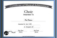 Choir Certificate Template 3