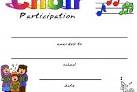 Choir Certificate Template 4