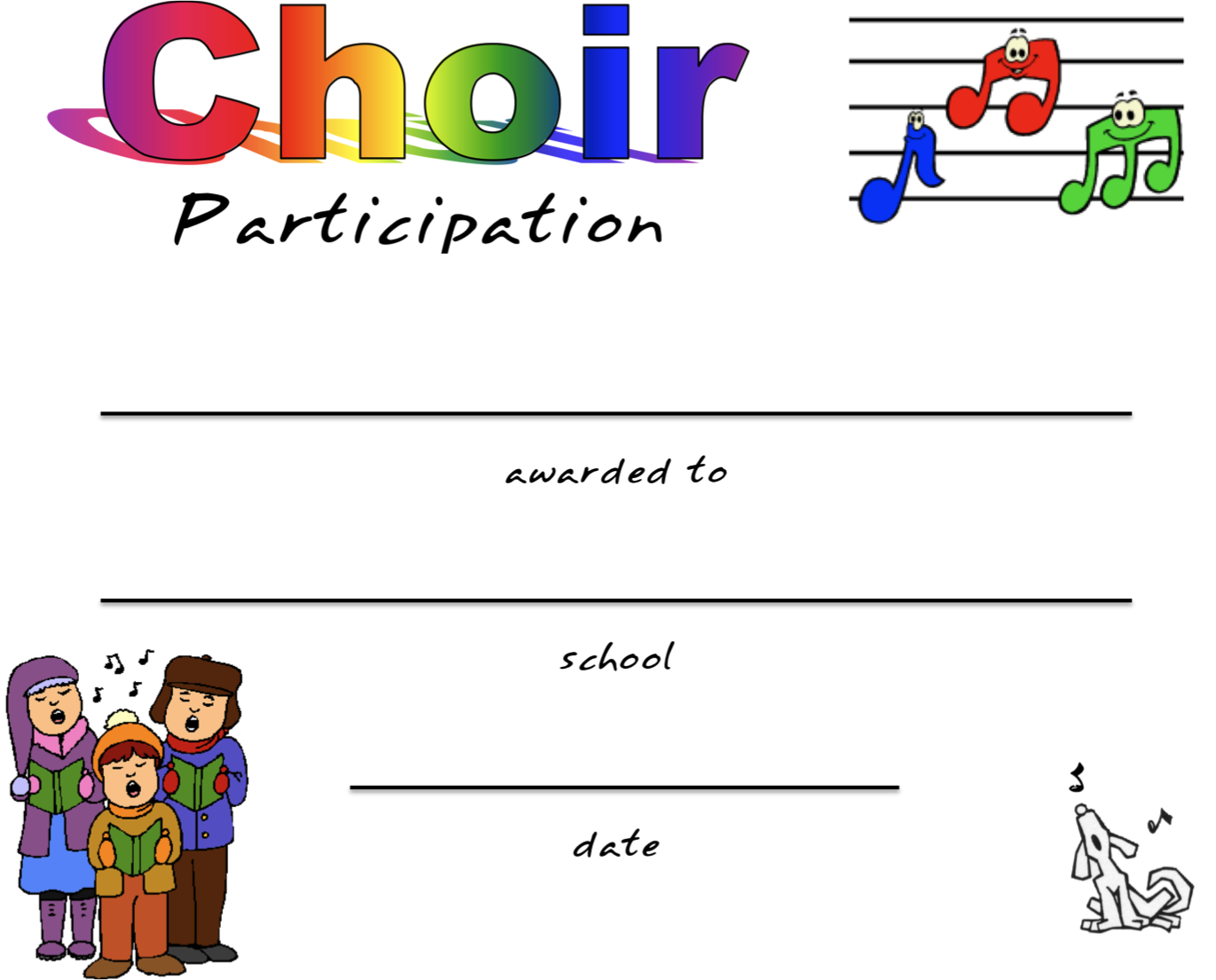 Choir Certificate Template 4