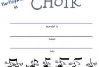 Choir Certificate Template 5