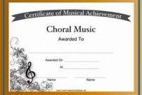 Choir Certificate Template 6
