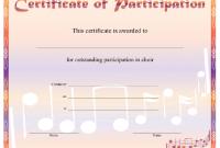 Choir Certificate Template 8
