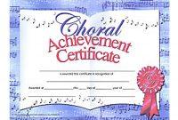 Choir Certificate Template 9