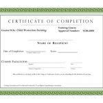 Class Completion Certificate Template