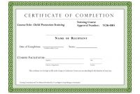 Class Completion Certificate Template 2